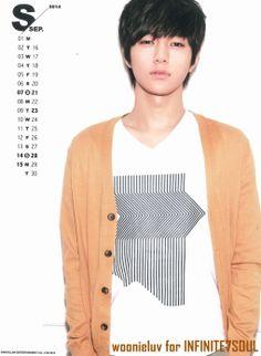 12: Infinite 2014 Calendar: L Kim Myungsoo
