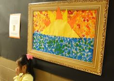 Pace Family: Preschool Art Show Summer Preschool Themes, Preschool Art Projects, Preschool Crafts, Preschool Ideas, Kids Crafts, Auction Projects, Art Auction, Class Projects, Art Area