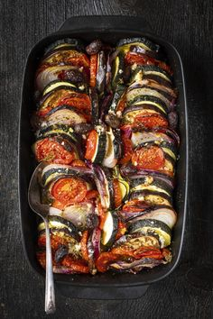 Vegetable Tian, Vegetable Dishes, Pasta Recipes, Cooking Recipes, Roasted Vegetables, Veggies, Savoury Dishes, Lunches And Dinners, Vegetarian Recipes