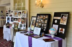 Graduation Party Set Up Table For Displaying Pictures Football Articles Awards