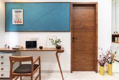 Home office table study areas 28 ideas for 2019 Study Table Designs, Music Studio Room, Studio Desk, Home Office Table, Study Areas, Study Rooms, Study Space, Flat Interior, Room Interior