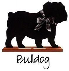 Bulldog chalkboard.