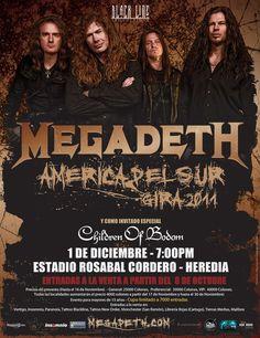 MEGADETH + CHILDREN OF BODOM | Heredia, Costa Rica
