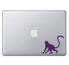 Monkey Decal/Sticker-custom, vinyl, outdoor vinyl, car decal, computer decal, permanent, primate, rain forest, jungle, funky monkey, tail by WizardatNight on Etsy