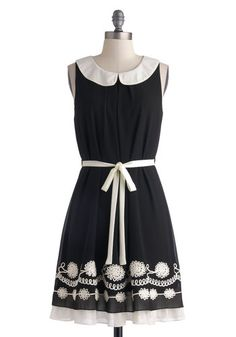 Traveling Chorus Dress. Arrangement enthusiasts from around the country will all release a sigh of admiration for the pairing of this collared dress with your patent pumps and perfect pitch! #black #modcloth