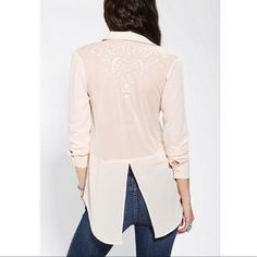 I just added this to my closet on Poshmark: Pins and Needles mesh back embroidered blouse. Price: $38 Size: S