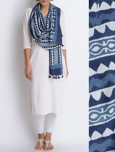 Formal outfit ideas for Indian women Today I want to talk about Indian formal outfits. Formal outfits for Indian women can be tricky as sometime your outfit ca.Indigo with a white top Salwar Designs, Kurta Designs Women, Kurti Designs Party Wear, Indian Attire, Indian Wear, Indian Outfits, Lehenga, Anarkali, Saree