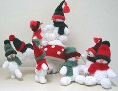 Snowmes and Snowmestool* Alan Dart knit toys christmas