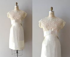 lace 1950s dress / vintage 50s dress / JAttendrai por DearGolden, $225.00