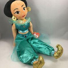 From the Ty Disney Princesses collection. Beanie Buddies, Ty Beanie Boos, Disney Jr, Disney Junior, Disney Princess Jasmine, Princess Zelda, Princess Collection, Aladdin, Spongebob