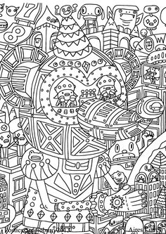 Free Coloring Page For Adults 6 Strange And Rich