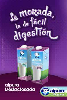 La leche alpura Deslactosada es de fácil digestión, está adicionada con Vitamina A para una piel saludable y con Vitamina D, que ayuda a la absorción del calcio en los huesos. Además, es rica en proteínas para fortalecer los músculos. #AlpuraDeslactosada #AlpuraMeGusta #Alpura