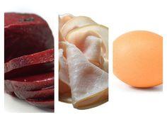Salát z červené řepy s šunkou a vejci