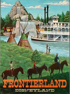 Disneyland - Frontierland Vintage Poster