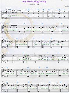 The XX — Say Something Loving Download PDF Piano Sheet Music