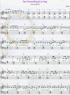 how to play say something on piano sheet music