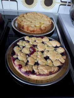 Lemon cake and blueberry cake.