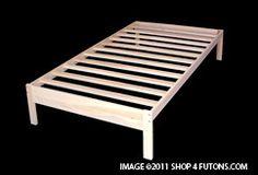 Nomad Platform Bed Frame : Solid hardwood : Shop4futons.com