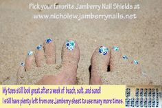 Long lasting and easy nail shields. Many applications from one sheet!   www.nicholew.jamberrynails.net