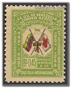 Estampillas antiguas de los Estados Unidos de Venezuela.
