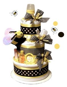 diaper bee cake