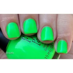 Finger Paints Silkscreen Green Nail Polish ❤ liked on Polyvore