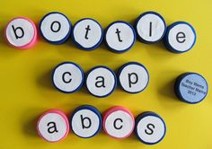 As promised, Bottle Cap ABCs! Many thanks to my local Starbucks for collecting all these caps for me. If you are interested in trying these activities or Bottle Cap Math, ask your local coffee shop…