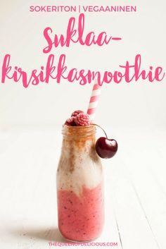 Suklaa-kirsikkasmoothie | Vegaaninen aamupala | Terveellinen smoothie | Sokeriton resepti #smoothie #vegaaninen #aamupala