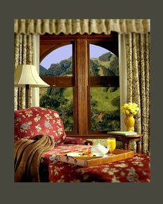 cosey room with fantastic view
