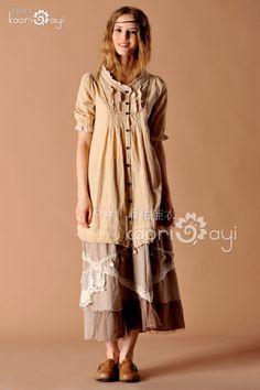 特价 2012夏装新款 日系森林系女装 棉质荷叶边领层次连衣裙-淘宝网