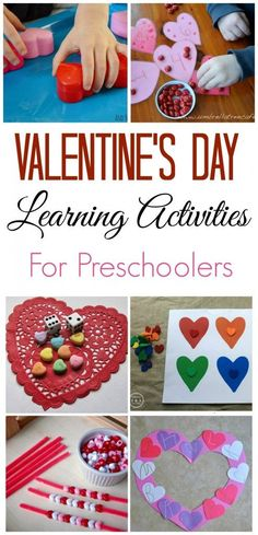 Valentine's Day Learning Activities for Preschoolers - Valentinstag Kinder Valentines, Valentine Theme, Valentines Day Activities, Valentines Day Party, Holiday Activities, Valentine Day Crafts, Learning Activities, Preschool Activities, Holiday Crafts