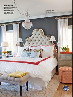 "For my bedroom. Paint Color Benjamin Moore ""Graphite"""