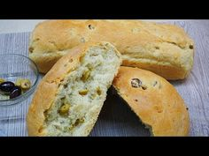 Ελιόψωμο - Olivebread | Greek Cooking by Katerina - YouTube Greek Cooking, Bread, Recipes, Food, Youtube, Brot, Recipies, Essen, Baking