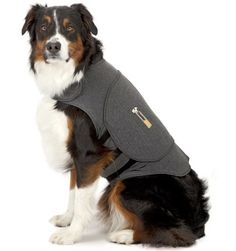 Thundershirt For Dog Anxiety | Thundershirt.com  ThunderShirt's patented design applies a gentle, constant pressure that has a dramatic calming effect for over 80% of dogs. Most effective anxiety solution as voted by veterinarians Already helping hundreds of thousands of dogs and cats across the country Great for storms, separation, travel and many other anxieties  No need for training or medication