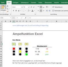 Ampelfunktion in Excel selbst erstellen für KPI Reporting und Berichte. VBA Programmierung und Excel Lösungen von unseren Inside Excel Spezialisten für Personal Kennziffern, Management-Berichte und Vorlagen