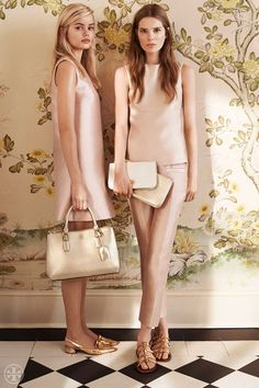 Coming up rosy: The prettiest shade of blush, with a subtle sheen | Tory Burch Spring 2014