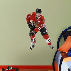Jonathan Toews Chicago Blackhawks NHL Jr Wall Decal ** You can get additional details at the image link.