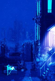 Midnight Garden. #pascalcampionart _This is so nice. _I know, I wish we could…