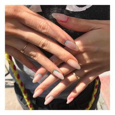 Colorful Reverse French 🌈✨—design by Miki French Acrylic Nails, Best Acrylic Nails, Reverse French Nails, Minimalist Nails, Glitter Nails, Gel Nails, Fire Nails, Nagel Gel, Dream Nails