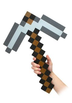 Get this Minecraft pickaxe accessory to complete your Minecraft Halloween costume. Get our Steve mask and add this pickaxe for a cool Minecraft costume. Minecraft Gifts, Minecraft Costumes, Minecraft Toys, Cool Minecraft, Minecraft Iron, Minecraft Furniture, Minecraft Skins, Minecraft Buildings, Minecraft Birthday Party