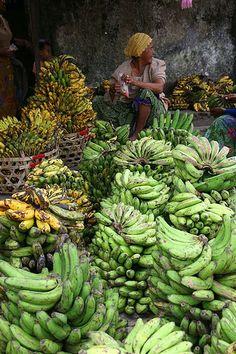 Plenty of banana bunches, Lombok, Indonesia
