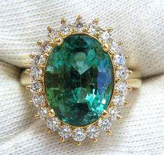 "GIA Certified 8.60ct natural green emerald diamonds ring 18kt ""F1"" Hal – Avis Diamond Galleries"