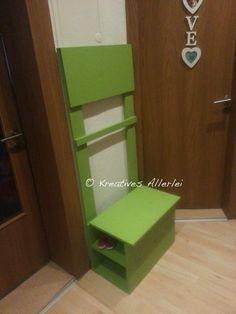 diy kindergarderobe selber bauen kindergarderobe b nke und paar. Black Bedroom Furniture Sets. Home Design Ideas