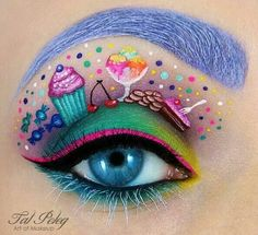 Passionate makeup painting by Tal Peleg  cup cake