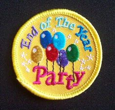 Girl Scout Fun Patches End of The Year Party New Iron On | eBay