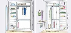 Eis o desafio: acomodar roupas, sapatos e acessórios de um casal em um closet de 1,80 x 2 m, sem bagunça nem brigas. Pedimos a dois especialistas do ramo que montassem esse quebra-cabeça.
