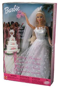 Barbie Bridal, Barbie Wedding Dress, Wedding Doll, Barbie 2000, Barbie Sets, Barbie And Ken, Vintage Barbie Kleidung, Vintage Barbie Clothes, Barbie Diorama