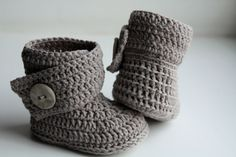Crochet ugg boot pattern. PDF. This is a PATTERN for crocheted baby's booties - boots. Ugg (gray).. $3,99, via Etsy.
