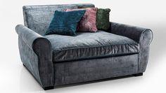 sofá terciopelo retro Loveseat