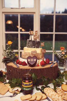 Homemade Mint Blush Hop Farm Wedding Cheese Tower Cake http://www.rebeccadouglas.co.uk/blog/